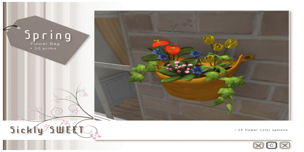 {Sickly SWEET} Spring Flower Bag 1