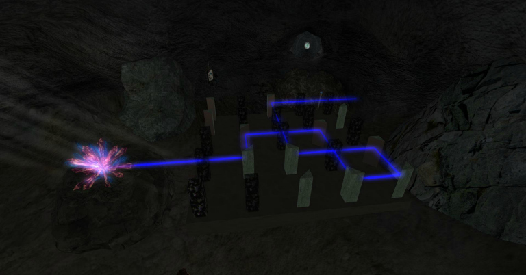 inside mine laser maze cropped