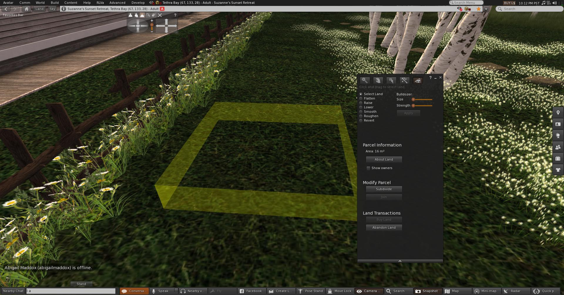 Yellow bounding box for subdividing land