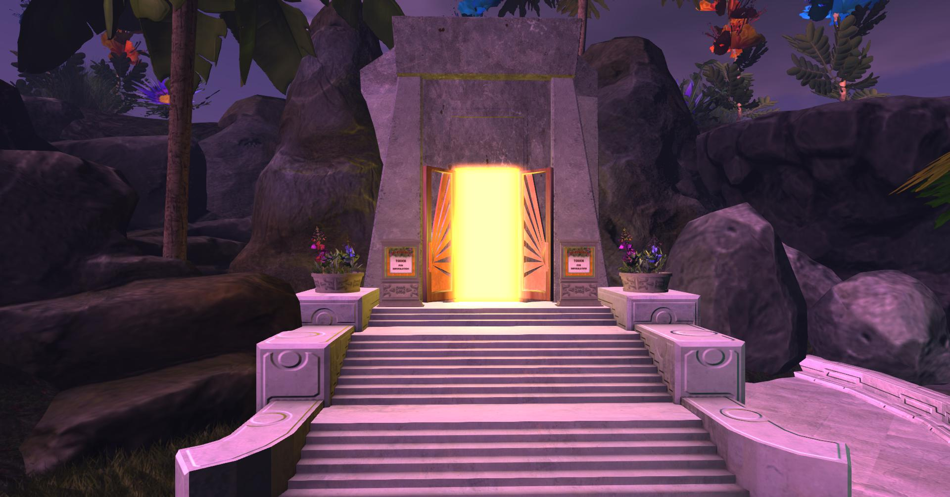 The portal to enter the game.