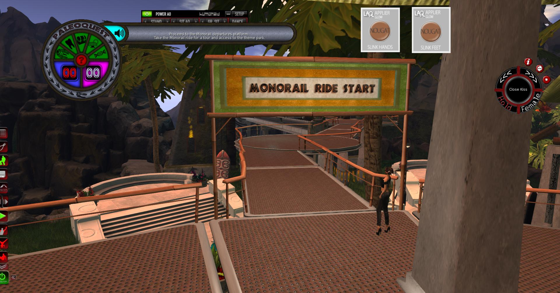 Make sure you get on the Monorail at the Start Gate.