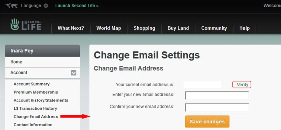 Linden Lab Email Verification